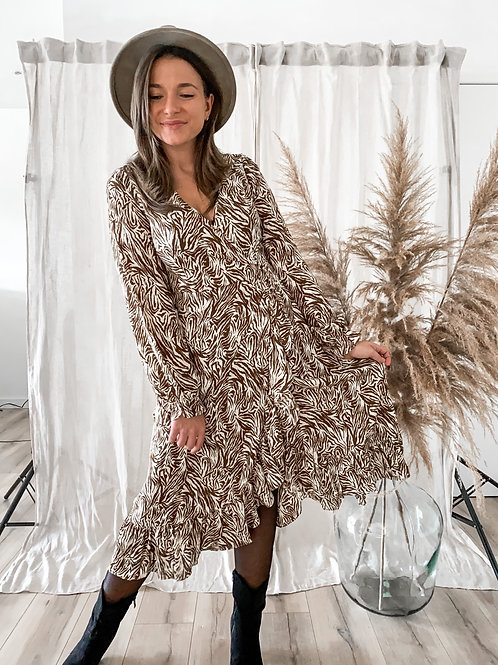 Midi zebra print dress