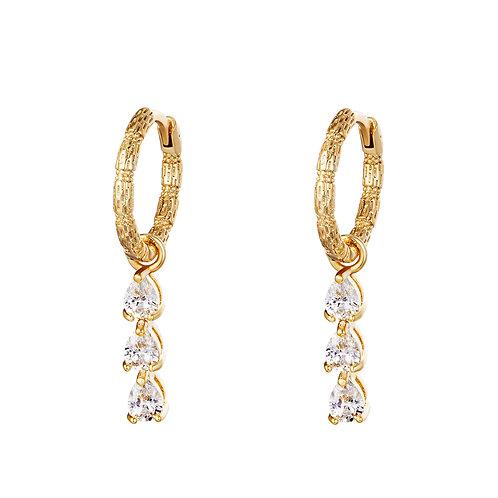 Diamants in a row earrings