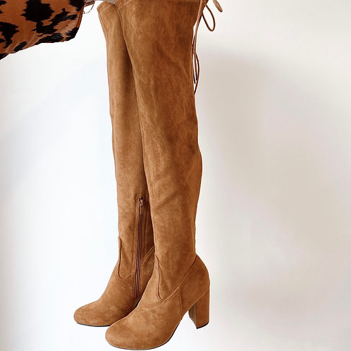 Camel overknee laarzen
