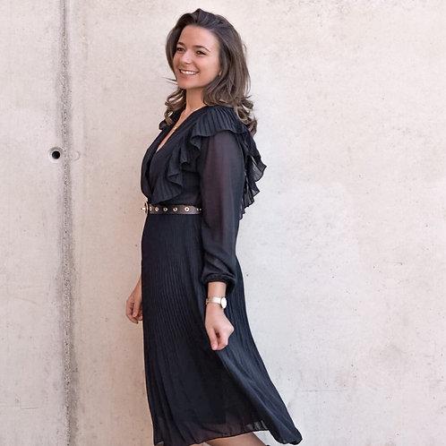 Midi ruffle jurk