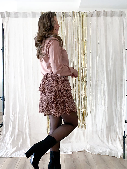 Pink dotty skirt
