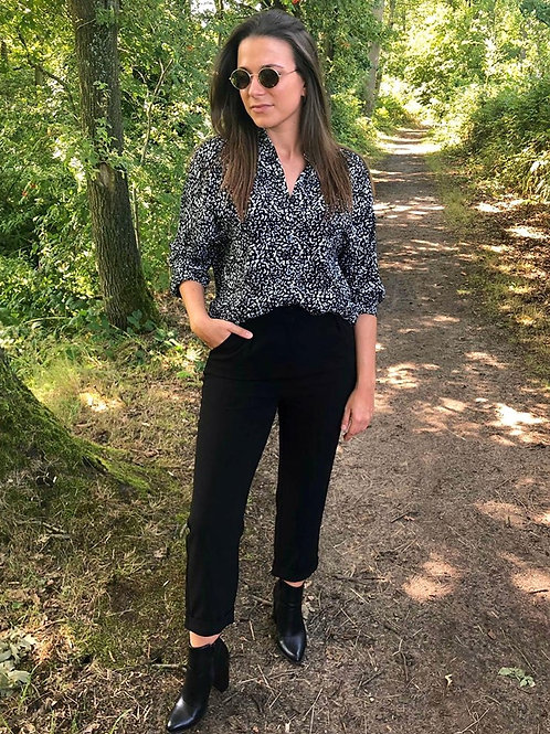 Black dalmatian shirt
