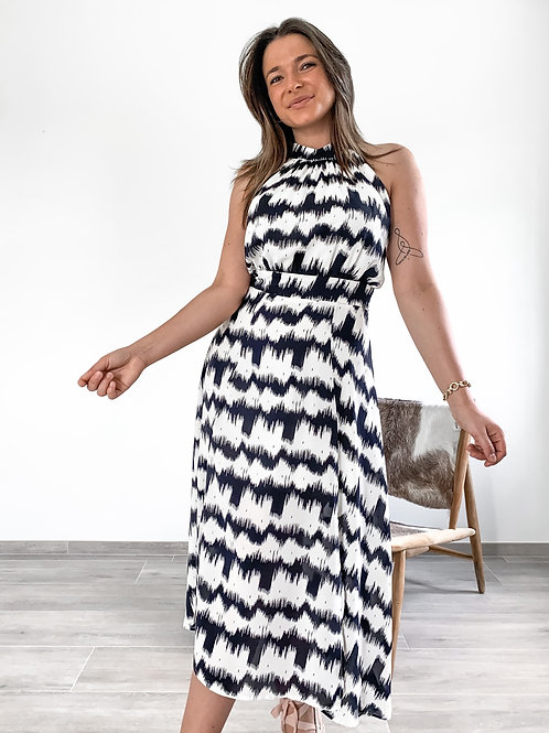 Dress Renate Black/white
