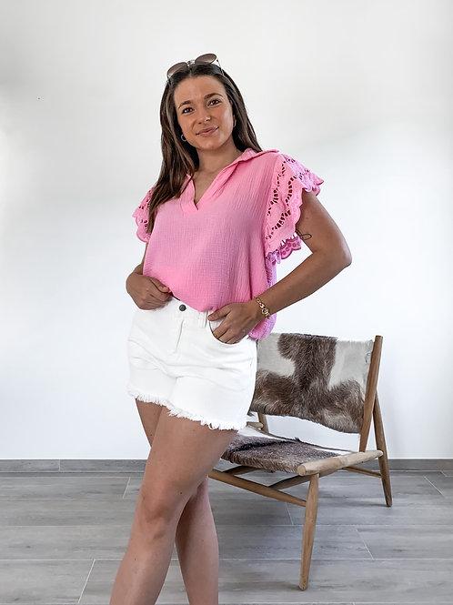 Pink tetra top Alana