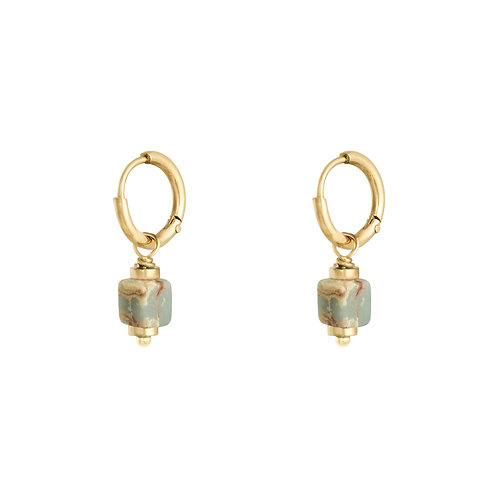 Marble block earrings
