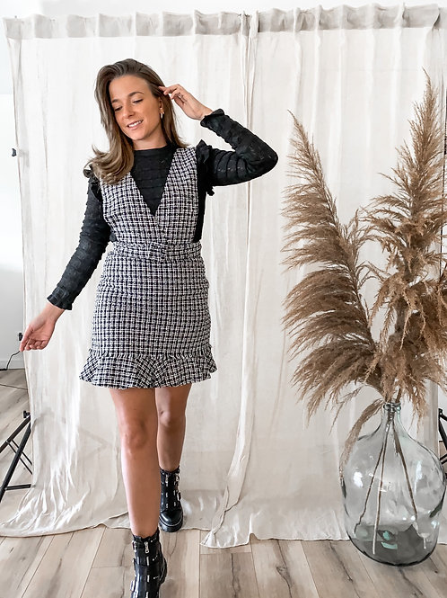 Checked  dress salopette