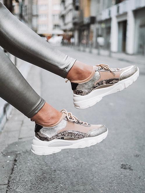 Snake print sneaker