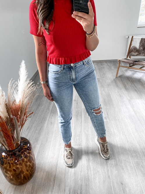 Ripped momfit jeans stretch