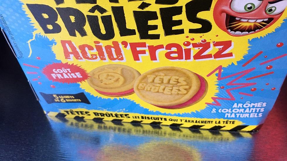 Biscuits tête brûlée acid  fraise