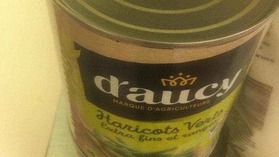 Boîte haricots  verts daucy