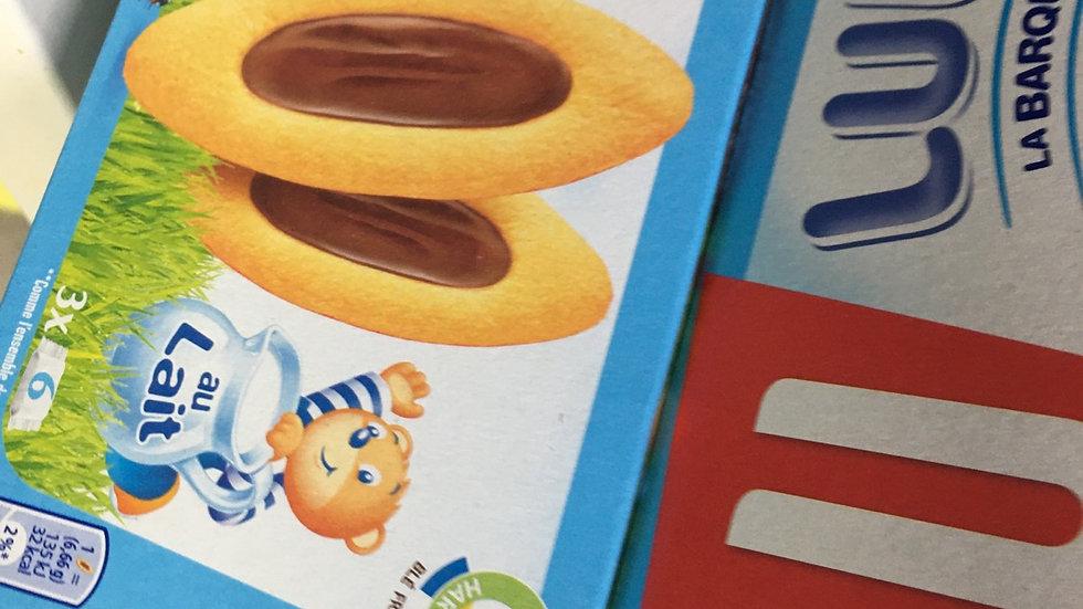 Barquette lu chocolat