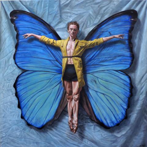 Ícaro Alfredo Sábat Óleo sobre tela 80x80cm 2007-2019  Alfredo Sábat // Artista exclusivo de ZINK industrias creativas®