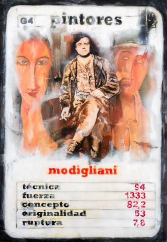 Modigliani // Pintores Lucas Moltrasio Técnica mixta   Lucas Moltrasio // Artista favorito de ZINK industrias creativas®