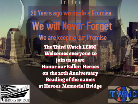 September 11, 2021  - We Will Never Forget