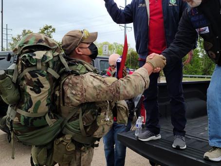 Congratulations and thank you to Army SSG Gabriel Joseph #WalkTheBridge 4/22/2021