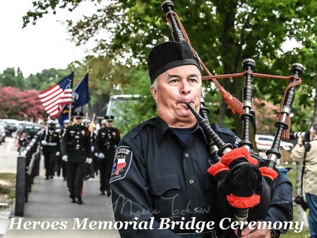Heroes Memorial Bridge Official Dedication in Rockwall-Rowlett Texas