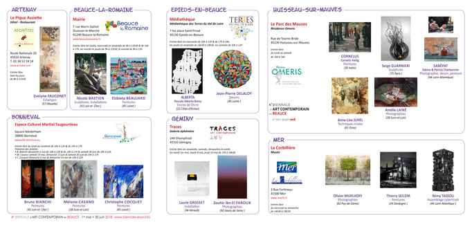 Biennale d'art contemporain en Beauce