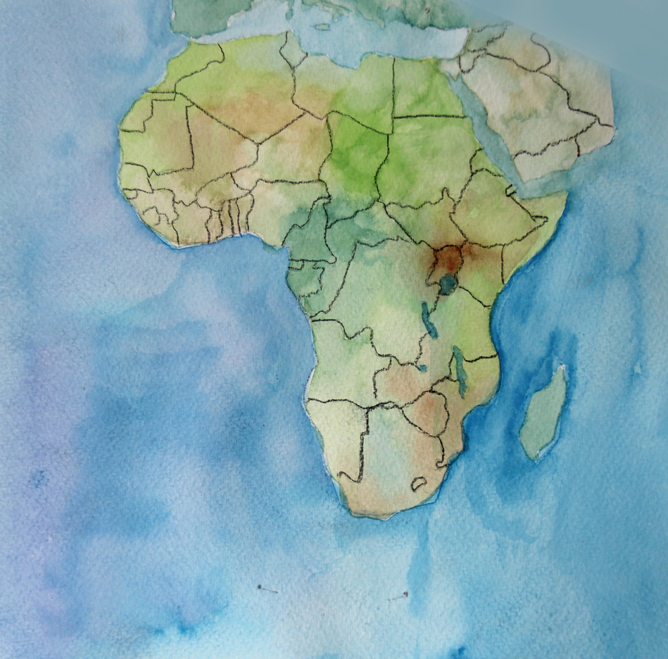 Carte continent africain