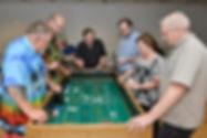 players around craps table