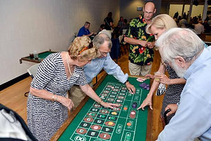 attendees playing roulette from 2017
