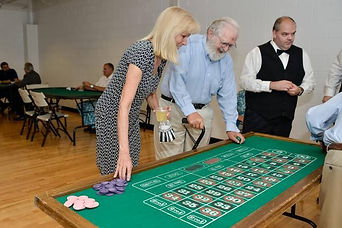 attendees play roulette