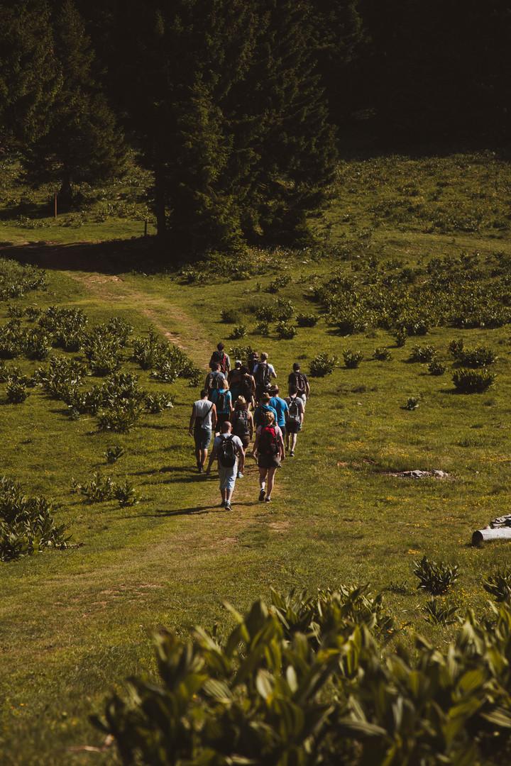 Le groupe de randonneur en quête de découvertes !