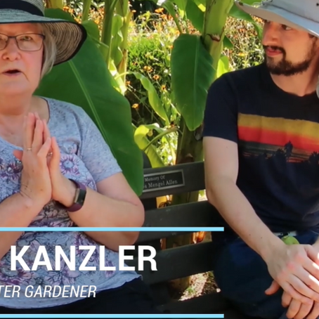 Exploring the Sensory Garden at the Louisville Nature Center  with master gardener Janie Kanzler