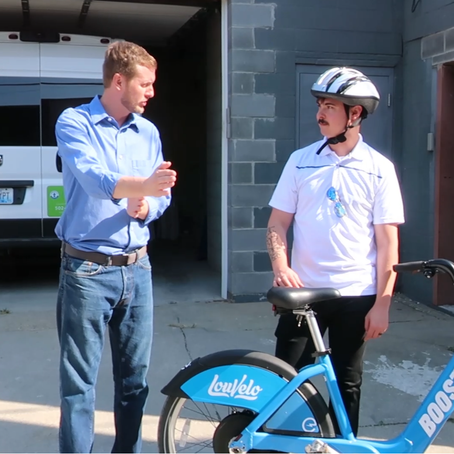 LouVelo bikeshare: exclusive HQ tour, interview, and sneak peak of new electric bikes