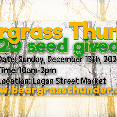 Request your free KY-native seeds now! Seed Giveaway @ Logan Street Market this Sunday (12/13)!