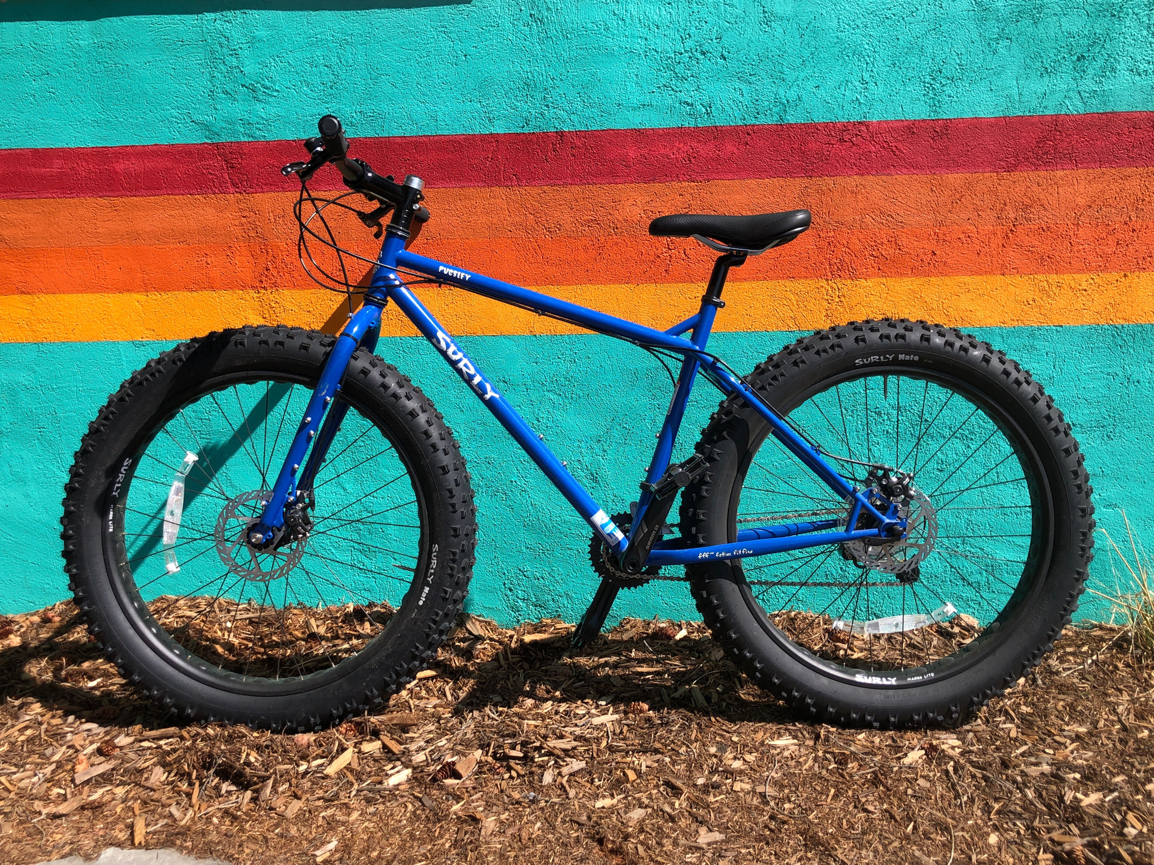1 Hour on Blue Pugsley Surly Fatbike