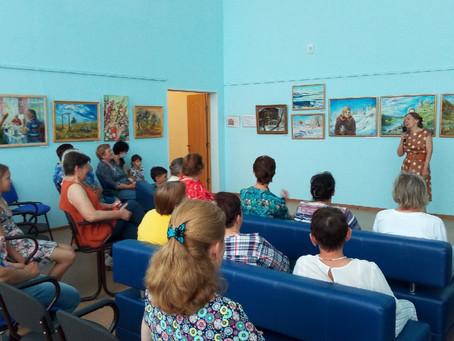 Экскурсия по выставке масляной живописи Надежды Русяевой