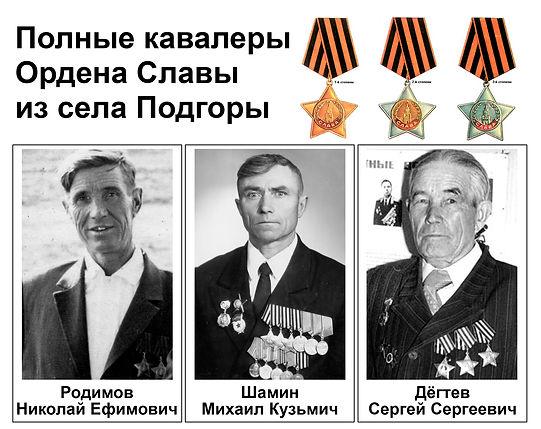полные кавалеры Ордена Славы сп Рождествено