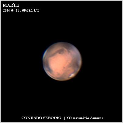 Marte em 18 Abril 2014