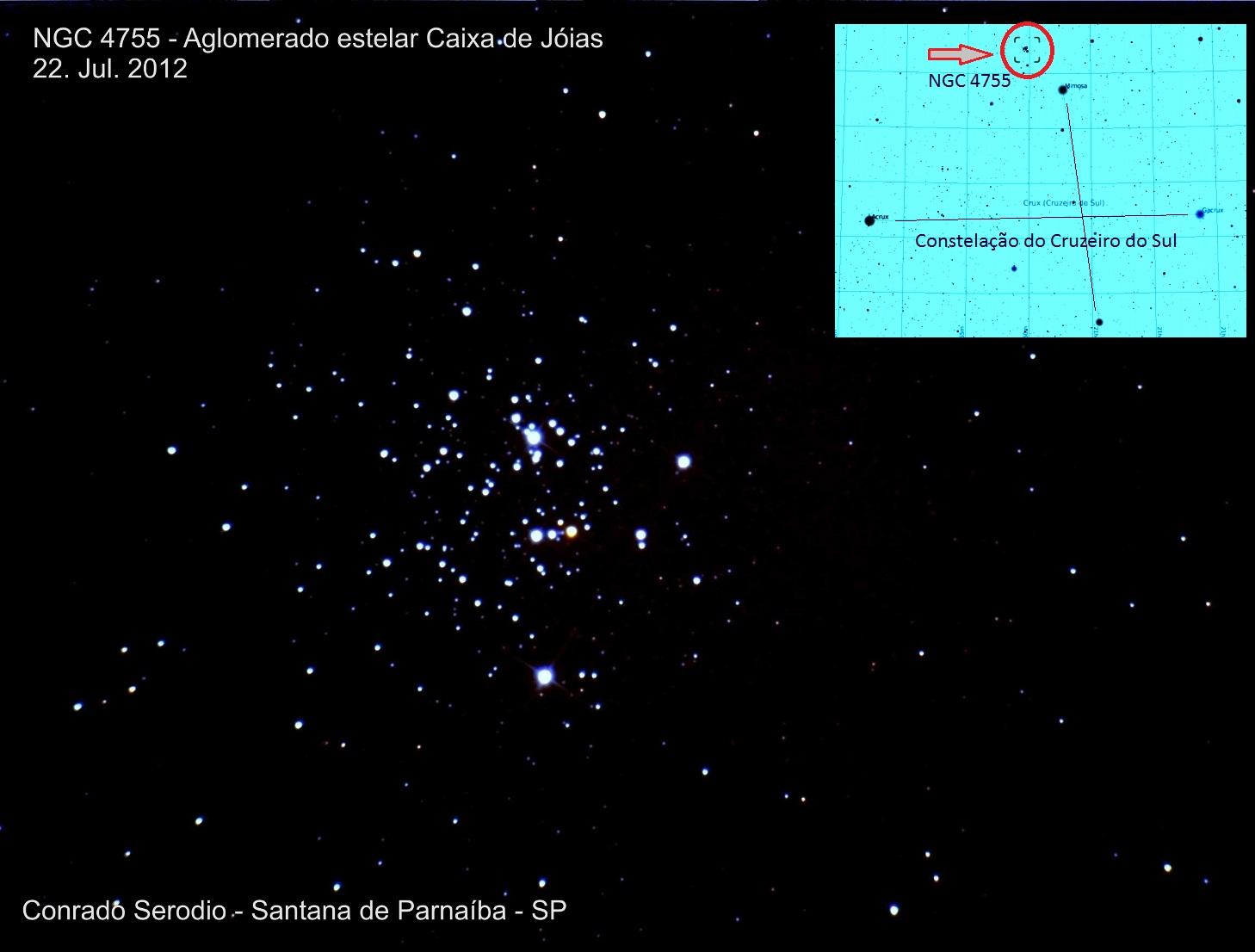 Aglomerado estelar Caixa de Jóias