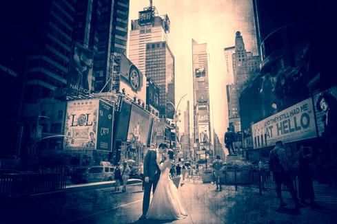 Trash The Dress en Times Square