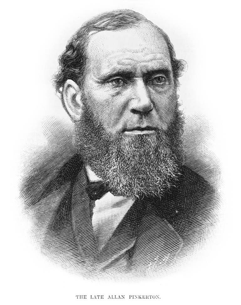 Retrato de Allan Pinkerton en 1884.