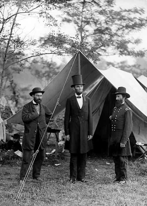 Agencia Nacional de Detectives Pinkerton junto a Lincoln.