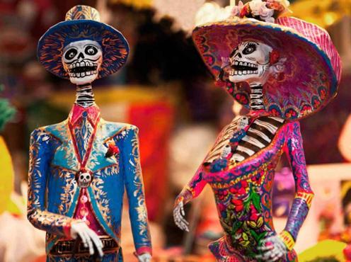 Mexico: Artesanías del día de los muertos