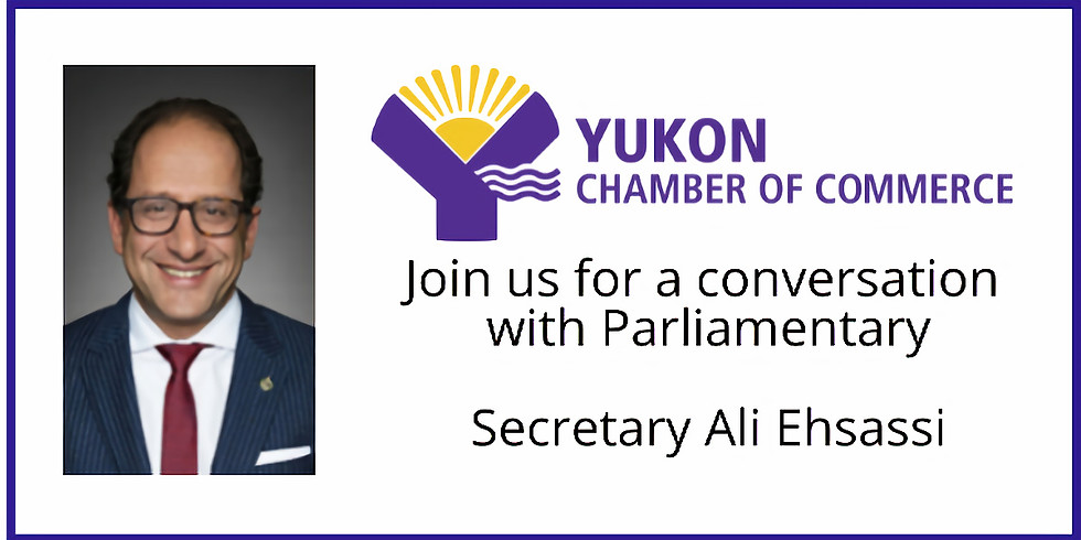 Join us for a conversation with Parliamentary Secretary Ali Ehsassi