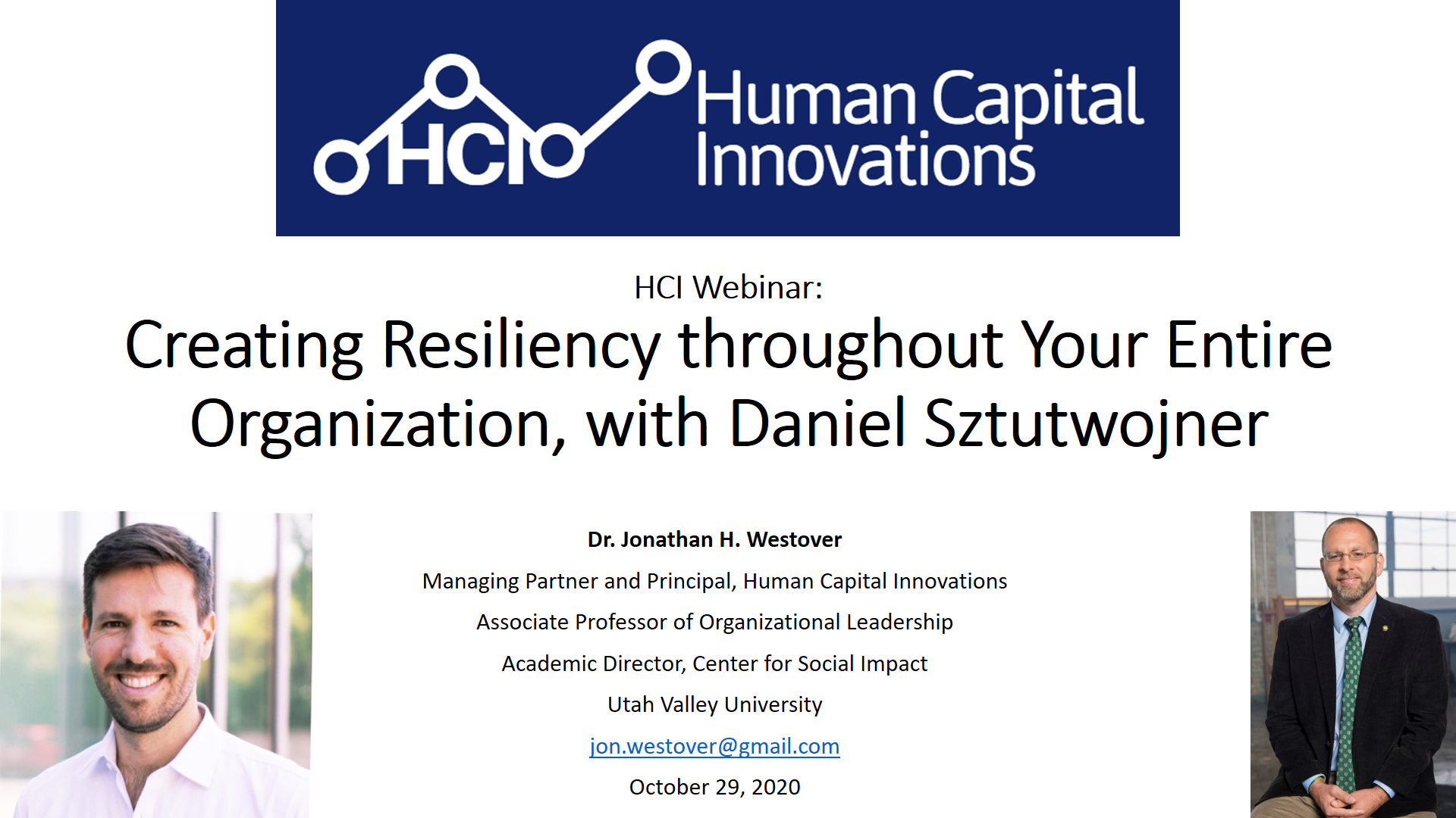 Creating Resiliency throughout Your Entire Organization