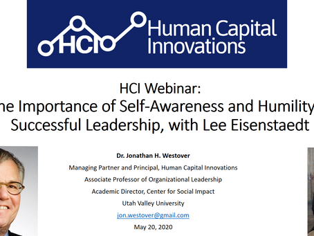 """HCI Webinar: """"The Importance of Self-Awareness and Humility in Successful Leadership"""""""