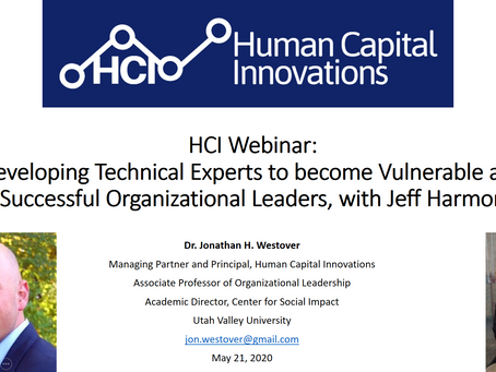 HCI Webinar: Developing Technical Experts to become Vulnerable and Successful Organizational Leaders
