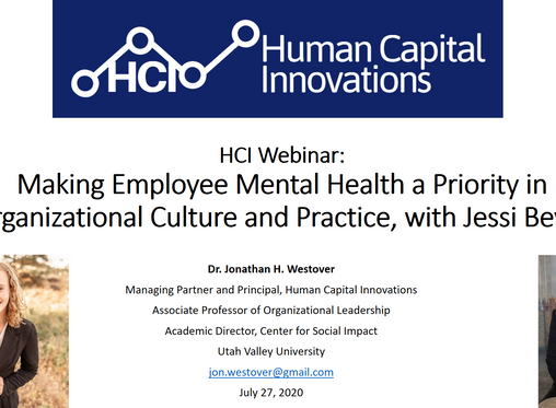 HCI Webinar: Making Employee Mental Health a Priority in Culture and Practice, with Jessi Beyer