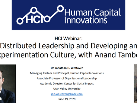 HCI Webinar: Distributed Leadership and Developing an Experimentation Culture, with Anand Tamboli