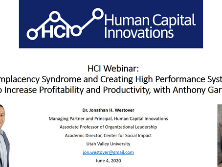 HCI Webinar: Complacency Syndrome and Creating High Performance Systems, with Anthony Garcia