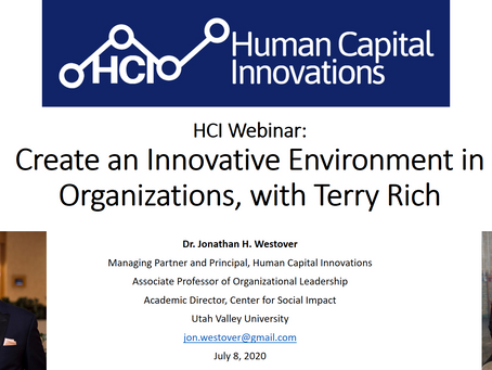 HCI Webinar: Create an Innovative Environment in Organizations, with Terry Rich
