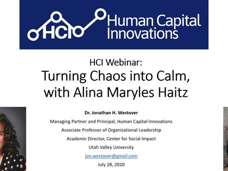 HCI Webinar: Turning Chaos into Calm, with Alina Maryles Haitz