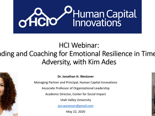 HCI网络研讨会:Leading and Coaching for Emotional Resilience in Times of Adversity