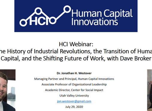 HCI Webinar: The History of Industrial Revolutions and Transitions of Human Capital, w/ Dave Broker