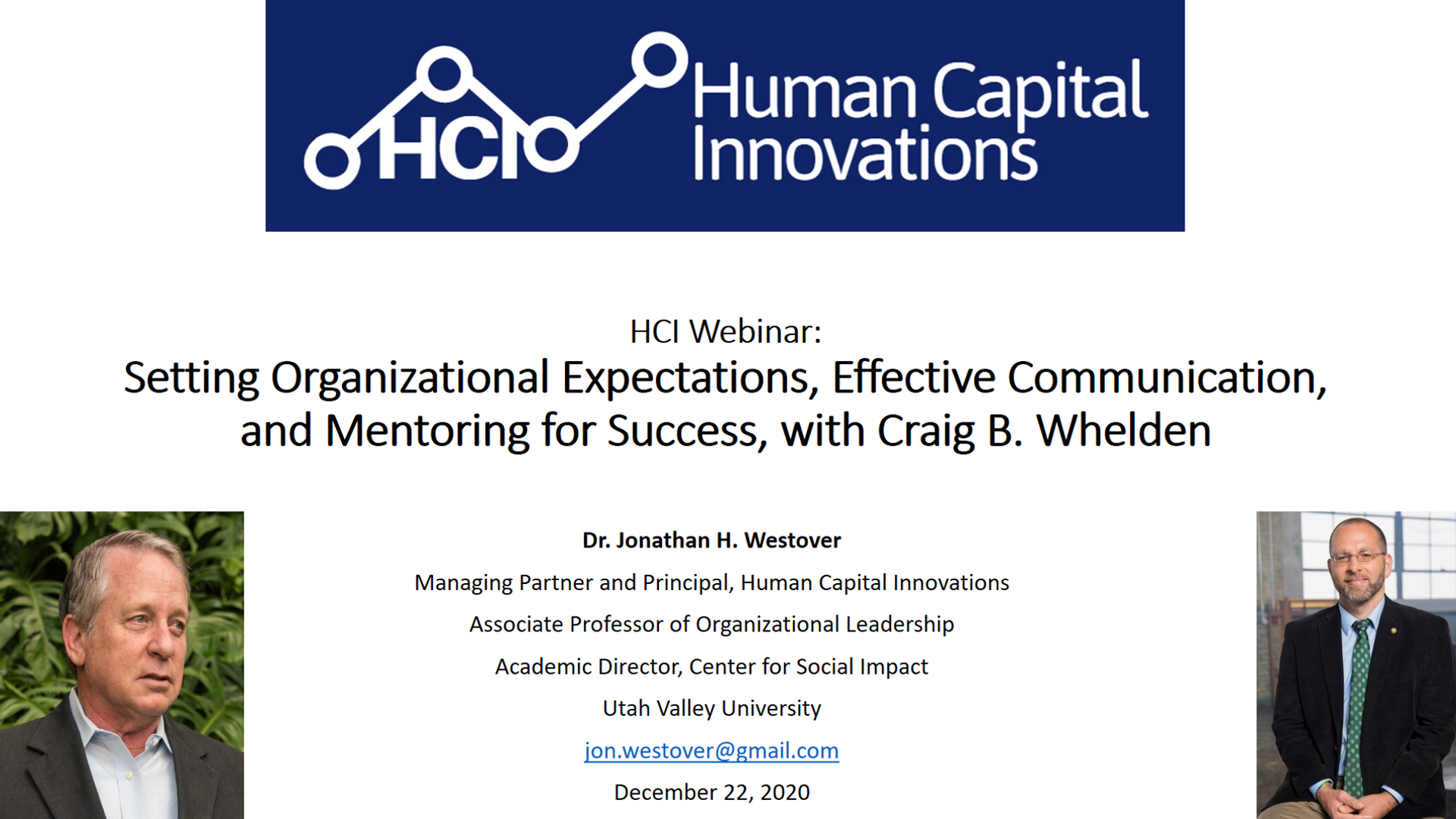 Setting Organizational Expectations & Effective Communication